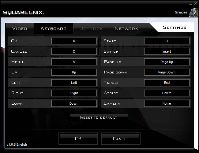 Settings and Controls [Archive] - Square Enix Forums